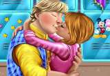 Anna and Kristoff sweet kissing