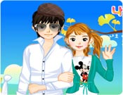 Jogo de vestir os namorados - Spring Couple Dress Up