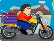 Winter Pizza Delivery - Motoboy de Pizzaria