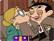 Mr. Bean Kissing
