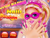 Super Barbie Nails Design